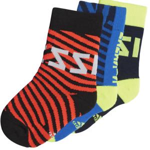 Adidas Messi Socks Kid's Soccer Sports Boys Athletic Football Multicolor 3 Pairs