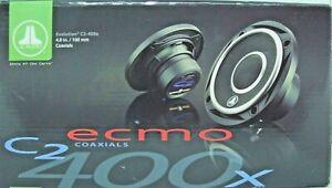"JL AUDIO C2-400X 4"" 100W 2 WAY FULL RANGE CAR STEREO SPEAKERS SET NEW"