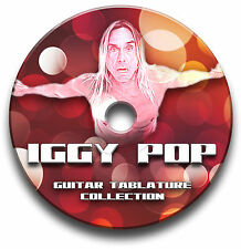 IGGY POP ROCK GUITAR TAB TABLATURE SONG BOOK SOFTWARE CD