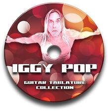 IGGY POP ROCK GUITAR TABS TABLATURE SONG BOOK SOFTWARE CD