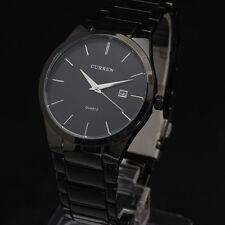 CURREN Fashion Black Mens Date Analog Army Military Quartz Sport Wrist Watch