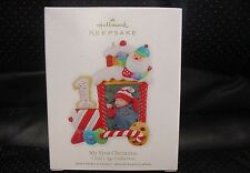 NIB 2012 HALLMARK ORNAMENT MY FIRST CHRISTMAS PHOTO HOLDER CHILDS AGE COLLECTION