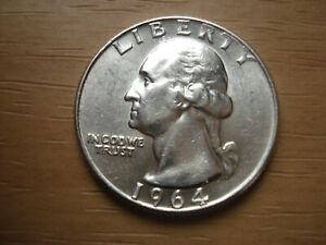 USA Quarter  Dollar 1964 *D*  SILBER    Originalbild