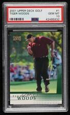2001 Upper Deck Tiger Woods #1 PSA 10 Rookie Gem Mint