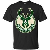 Milwaukee Bucks T-Shirt Basketball Men's Tee Shirt Short Sleeve S-5XL
