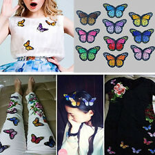 10pcs DIY Embroidery Butterfly Sew On Patch Badge Embroidered Fabric Applique CN