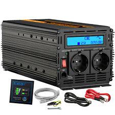 Inversor ONDA PURA 2000W 4000W 12V 220V Convertidor Transformador Inverter LCD