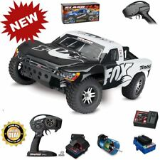 Traxxas 68086-4 Slash 4x4 VXL Brushless RTR White Fox Short Course Racing Truck