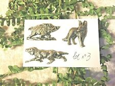 Lot n°3   3 pin's chien de chasse  - renard - sanglier .