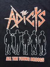 "VINTAGE ADICTS ""YOUNG DROOGS"" punk rock tour concert shirt circle jerks ramones"