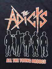"VINTAGE ADICTS ""YOUNG DROOGS"" punk rock tour concert shirt circle jerks ramones"