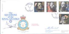 RAF FDC 1 - 1992 Tennyson Andover firmado co bola de nieve 60 Sqn disolución
