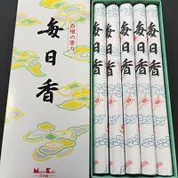 Nippon Kodo Traditional Incense Sandalwood 5 JOSS Sticks MAINICHIKOH 103 JAPAN