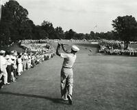 Golf Ben Hogan hitting 1 Iron off the tee during 1950 US Open Photo Print