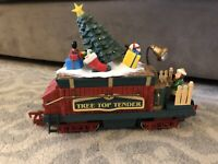 New Bright Holiday Express Christmas TREE TOP TENDER 387 train animated sound