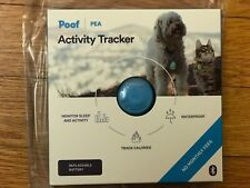 Poof Pea Activity Tracker, blue, cat/dog, monitors sleep and activity, new