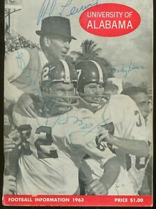 Paul Bear Bryant Signed Auto 1963 Alabama Media Guide W/ 16 Signatures PSA/DNA