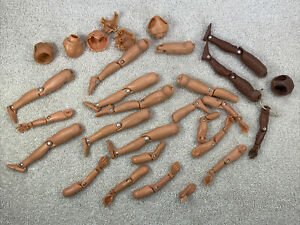 """Vintage Lot of 1970's MEGO 8"""" Action Jackson Figure Parts Bodies, Arms, and Legs"""