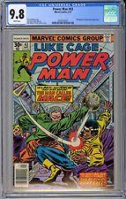 Luke Cage, Power Man #43 CGC 9.8 NM/MT Wp Marvel Comics 1977 RARE WHITE PAGES