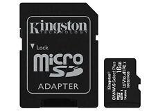 16GB Kingston Canvas Select Plus microSDHC CL10 UHS-1U1V10A1 Memory Card 3 Pack