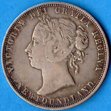 Canada Newfoundland 1882 H 50 Cents Fifty Cents Silver Coin - Very Fine