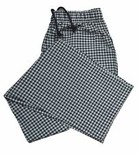 More details for check chef trouser three pockets excellent quality catering work pant for unisex
