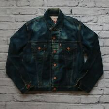 New Sample Levis Type 3 Denim Trucker Jacket Size S M Distressed Washed