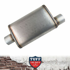 "3"" Megapower Straight Through Stainless Steel Muffler Offset Centre Oval 14x9x4"