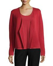 Eileen Fisher Angled Front Silk & Organic Shaped Jacket Sz PP #1468