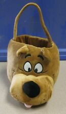 Adorable Scooby Doo Plush Basket Collectible 12 inch X 10 1/2 Inch Hanna Barbera