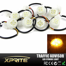 Xprite 180W 8x LED Hide A Way Strobe Lights Truck Roof Toop Flash Bulbs Amber