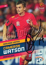✺Signed✺ 2013 2014 ADELAIDE UNITED A-League Card CAMERON WATSON