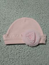 Lovely Pink Rose Design Baby Girls Hat Age 0-3 Months