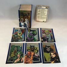 MARVEL 75th ANNIVERSARY (2014) Complete SAPPHIRE PARALLEL FOIL Card Set (90)