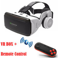 3D Virtual Reality VR Box Headset Glasses + Remote Control for iPhone Android
