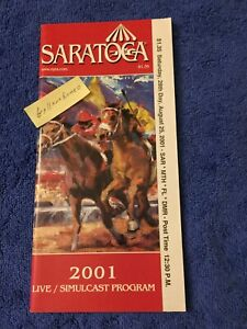 MINT 2001 TRAVERS PROGRAM POINT GIVEN HALL OF FAME 2 SPRINT CHAMPS KINGS BISHOP