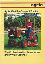 Equipment Brochure - Agria - 4800 K - Compact Tractor - Farm - c1982 (E3347)