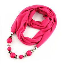 Fashion Women Neck Pendant Scarves Shawls Stole Jewelry Scarf Necklace Wrap
