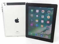 Apple iPad 4th Generation 9.7in 16GB - 128GB Wi-Fi + Cellular Black / White Bare