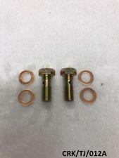 2 X Anteriore Tubo idraulico banjo bolt JEEP WRANGLER YJ & TJ 1987-2006 CRK/TJ/012A