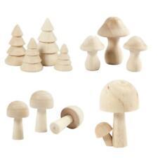 Pilze und Tannen aus Holz, Miniatur Weihnachtsbäume Mushrooms für Wichtel Elfen