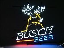 Rare New BUSCH LIGHT BEER DEER DEERE Real Glass Pub Bar Real Neon Sign FAST SHIP