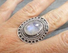 Anillos de joyería con gemas piedra luna