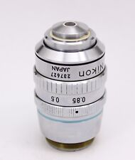 Nikon Plan 50X / 0.85 Oil 160 Microscope Objective Iris Aperture Dark Field