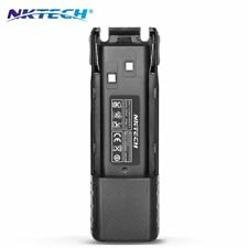 NKTECH 7.4V 4200mAh Extended Battery Fit BaoFeng UV-82HP UV-8D Ham Two Way Radio