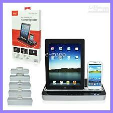 Docking Station Charger Speaker For iPhone 4,5 5 S iPad air ipad Mini & 4, HTC