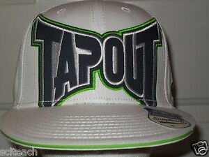 """White & Green Urban TapouT Snapback Cap """"My Fight Matters"""" Officially Licensed"""