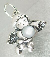 Schutzengel Anhänger Silber 925 Perle Engel Kettenanhänger Damen Kinder