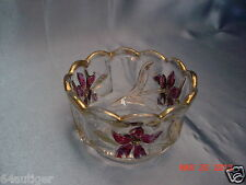 """EAPG Individual Berry Bowl - U.S. Glass """"Flower and Honeycomb"""" c:1915"""