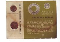 1966 Carded UNC Coin SET Australia One & Two Cent Green Card E-901